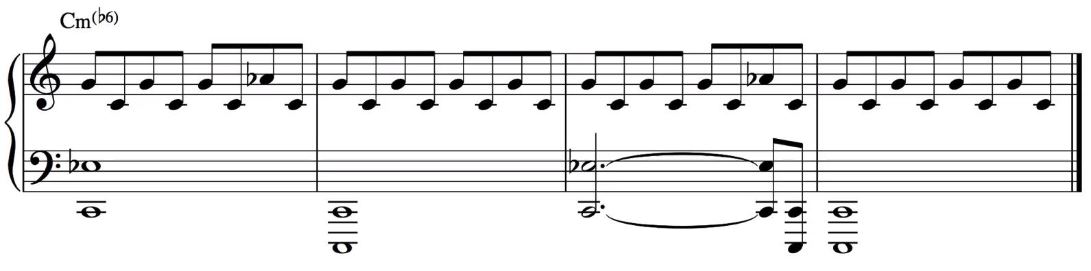 小三降六和弦的例子