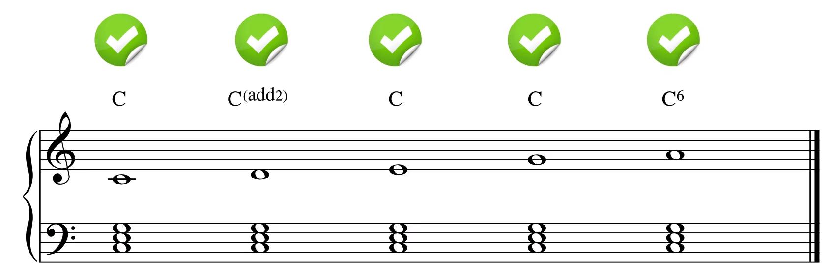 五声音阶放在一级和弦上